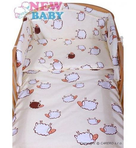 NEW BABY Béžové bavlněné povlečení