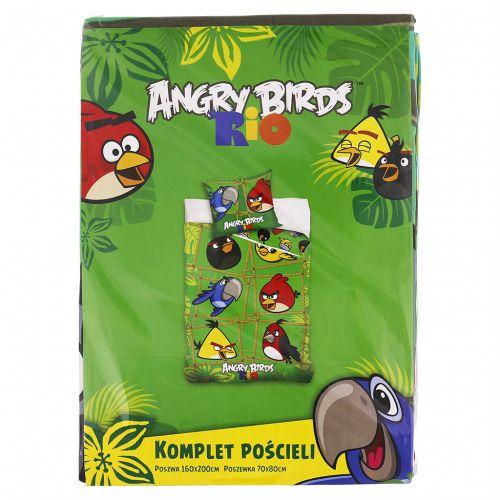 Carbotex Angry Birds Rio zelené varianta 2 bavlněné povlečení