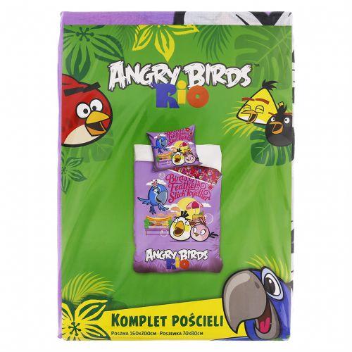 Carbotex Angry Birds Rio fialové bavlněné povlečení