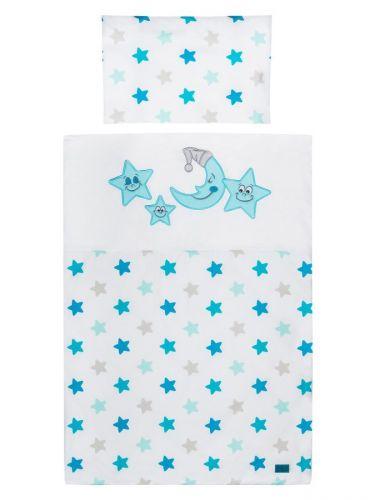 Belisima Hvězdičky modré bavlněné povlečení