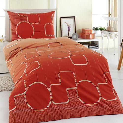 Night in Colours Myra oranžové bavlněné povlečení