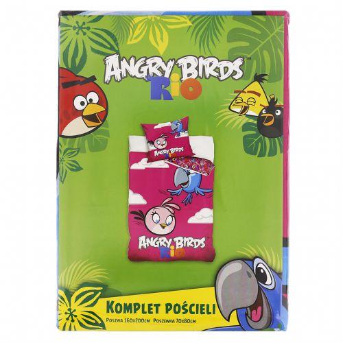 Carbotex Angry Birds Rio světlefialové bavlněné povlečení