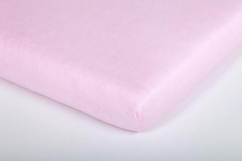 Träumeland Tencel UNI světle růžové prostěradlo