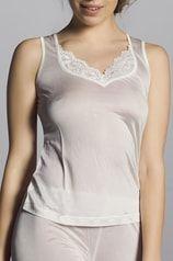CHANGE Lingerie Silk knit with lace tílko