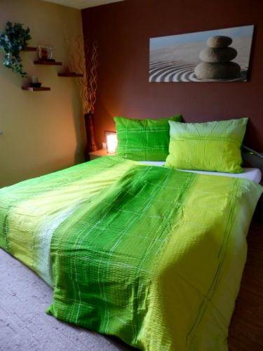 Písecké lůžkoviny Cákance zelené krepové povleční