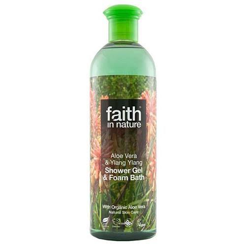 Faith in Nature 2v1 BIO Aloe Vera a Ylang Ylang sprchový gel a pěna do koupele 400 ml
