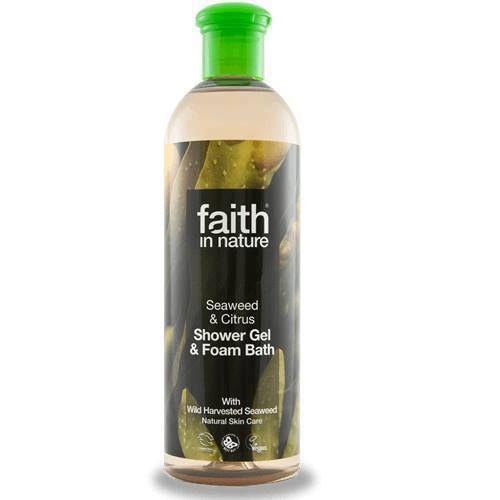 Faith in Nature 2v1 Mořská řasa a citrus sprchový gel a pěna do koupele 400 ml