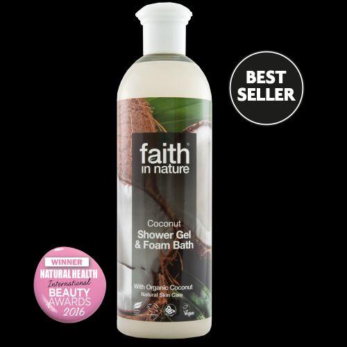 Faith in Nature 2v1 BIO kokosový sprchový gel a pěna do koupele 250 ml