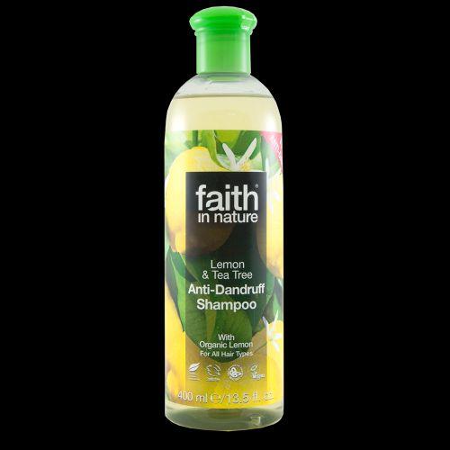 Faith in Nature BIO Šampon proti lupům Citrón a Tea Tree 250 ml