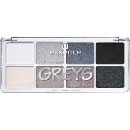 Essence All About Eyeshadow paletka očních stínů GREYS