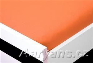 Aaryans oranžové Jersey prostěradlo