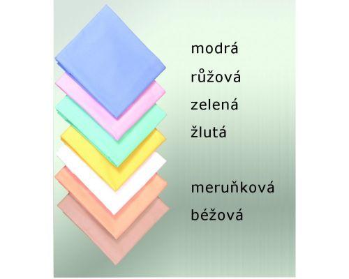 Brotex Modré dvojlůžkové bavlněné prostěradlo