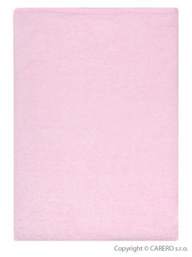 Akuku růžová froté nepromokavá podložka