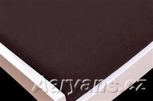 Aaryans Čokoládově hnědé froté prostěradlo