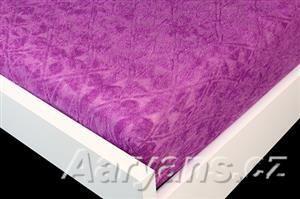 Aaryans fialové froté prostěradlo
