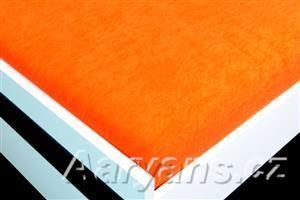 Aaryans oranžové froté prostěradlo