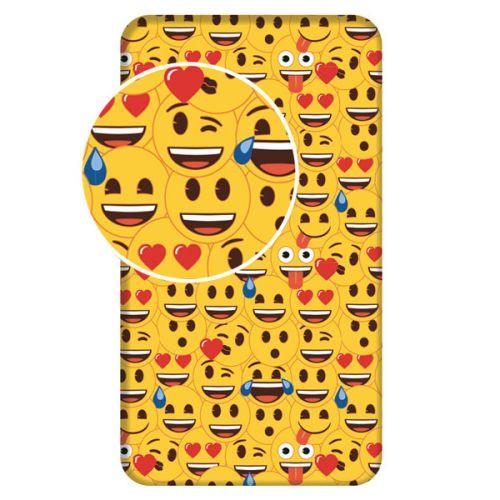 JERRY FABRICS Smajlíci Emoji bavlněné prostěradlo