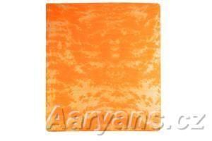 Aaryans oranžové batikové prostěradlo