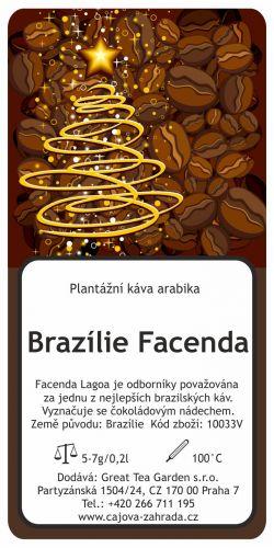 Great Tea Garden Vánoční káva Brazílie Facenda mletá cena od 89 Kč