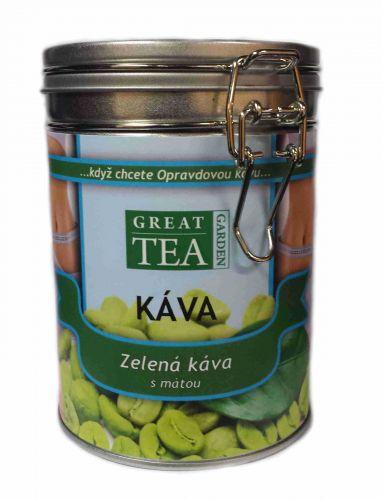 Great Tea Garden Zelená káva s mátou v dóze cena od 199 Kč
