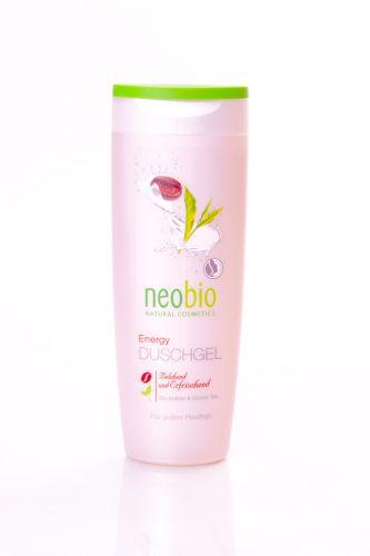 Neobio Sprchový gel Energy s bio kofeinem a zeleným čajem 250 ml