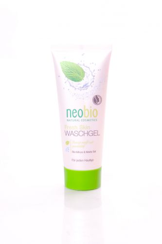 Neobio Mycí gel s bio mátou a mořskou solí 100 ml