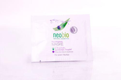 Neobio Hydratační maska 24h s bio aloe vera a acai 2x7,5 ml
