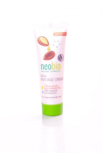 Neobio Anti Age krém 24h s bio arganovým olejem a hyaluronem 50 ml