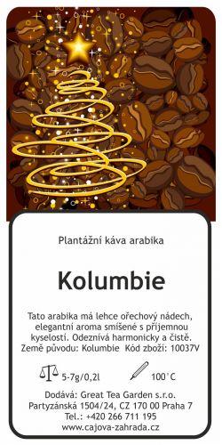 Great Tea Garden Vánoční káva Kolumbie mletá cena od 89 Kč
