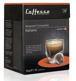 Kávové kapsle Caffesso Italiano intenzita 6 10 kapslí