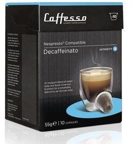 Kávové kapsle Caffesso Decaffeinato intenzita 3 10 kapslí