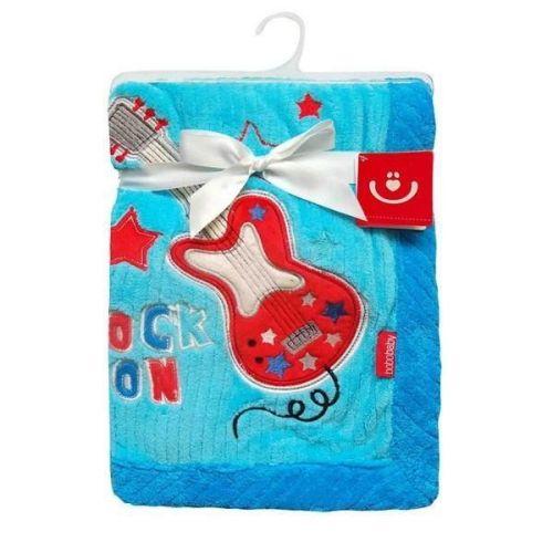 Bobo baby Kytara modrá deka z mikrovlákna
