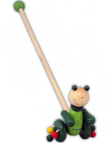 Baby Mix Dřevěná jezdící hračka žába
