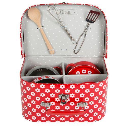 Sass & Belle Dětská mini kuchyňka v kufříku