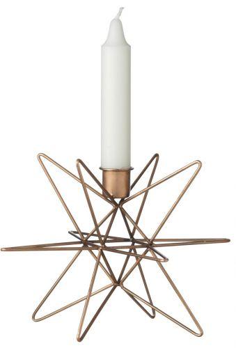 Madam Stoltz Svícen Copper 14 cm