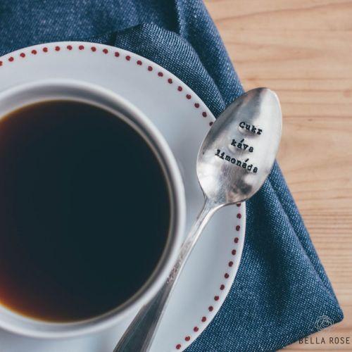 La De Da! Living Postříbřená čajová lžička Cukr káva limonáda