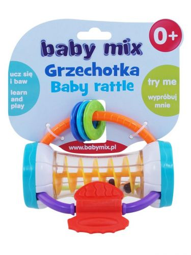 Baby Mix barevný válec chrastítko