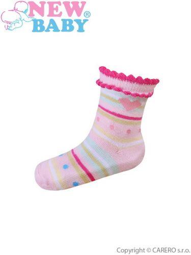 New Baby ponožky s pruhy a puntíky