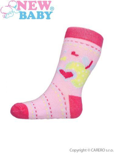 New Baby bavlněné ponožky s ABS s jablíčkem
