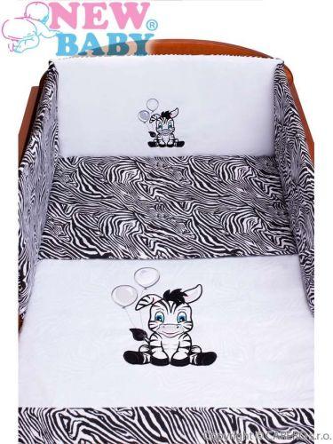 New Baby Zebra bílo-černé 5-dílné bavlněné povlečení