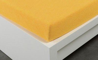 XPOSE žluté Froté prostěradlo