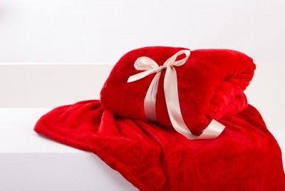 XPOSE červená mikroflanelová deka