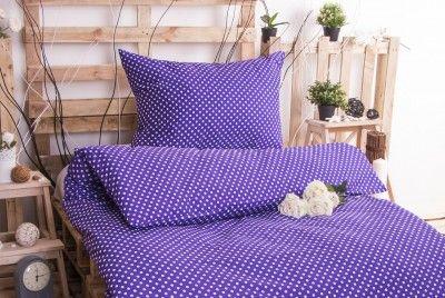 XPOSE MARKÉTA fialové bavlněné povlečení