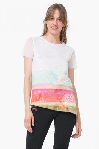 Desigual Asimetric Polynesia tričko