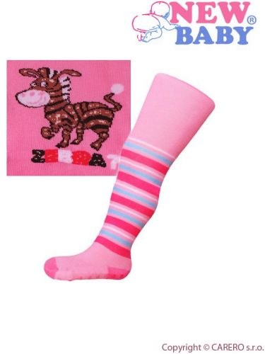 New Baby punčocháče s ABS zebra