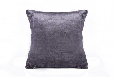 XPOSE tmavě šedý mikroflanelový povlak na polštář
