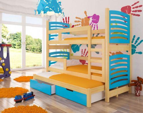 ADRK Soria Dvoupatrová dětská postel s přistýlkou