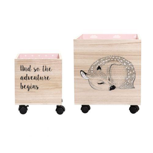 Bloomingville Úložný box na kolečkách Bambi