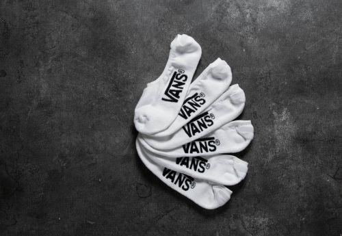 Vans Classic Super No S White 3 Pairs ponožky