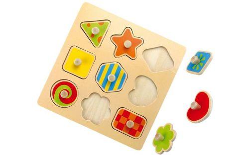 Legler Dřevěné puzzle Tvary cena od 190 Kč